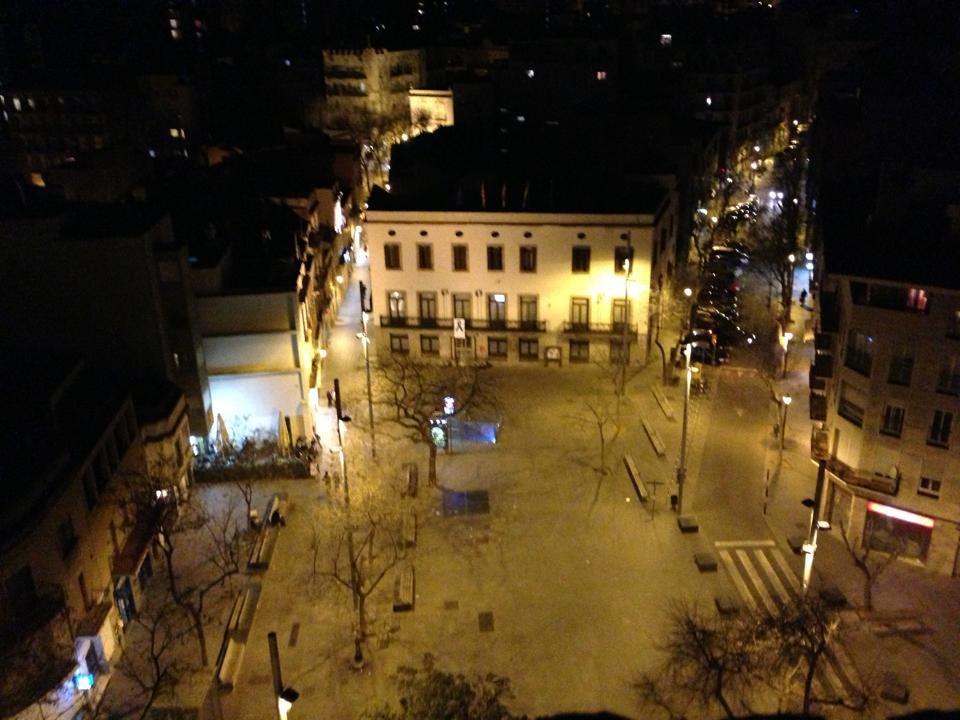 Foto plaça d'Orfila des del campanar de la Parròquia. Autor Jordi Solsona.