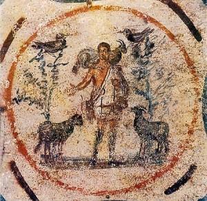 Imatge del bon pastor, segle III d.C