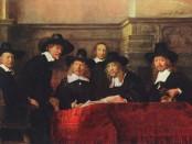 El Síndic dels pañeros, per Rembrandt (1662). Obra per encàrrec, simbolitza tant l'èxit de la burgesia així com la puixança de Ámsterdam