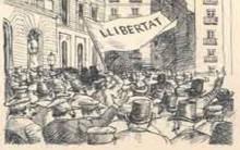 Il·lustració de Josep Narro (Pels camins d'Utopia, 1958)