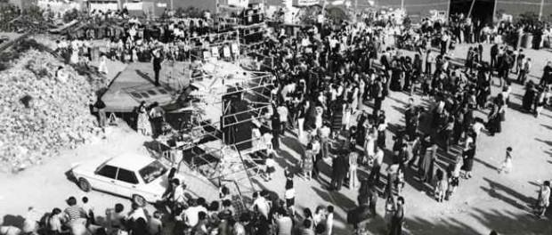 Ocupació veïnal de la planta asfàltica per convertir-la en l'ateneu popular de Nou barris,  1977