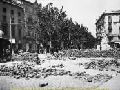La Rambla durant els fets de maig de 1937