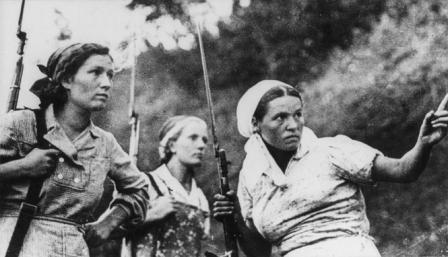 Partisanes ruses II Guerra Mundial.