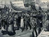 Match girls strike 1888. Font: https://libcom.org/history/english-working-class-tom-nairn