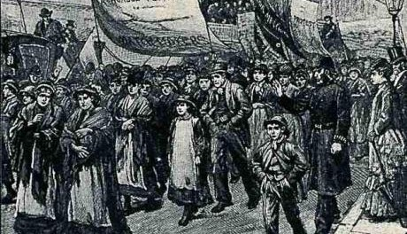 Match girls strike 1888. Font: https://libcom.org/history/english-working-class-tom-nairn