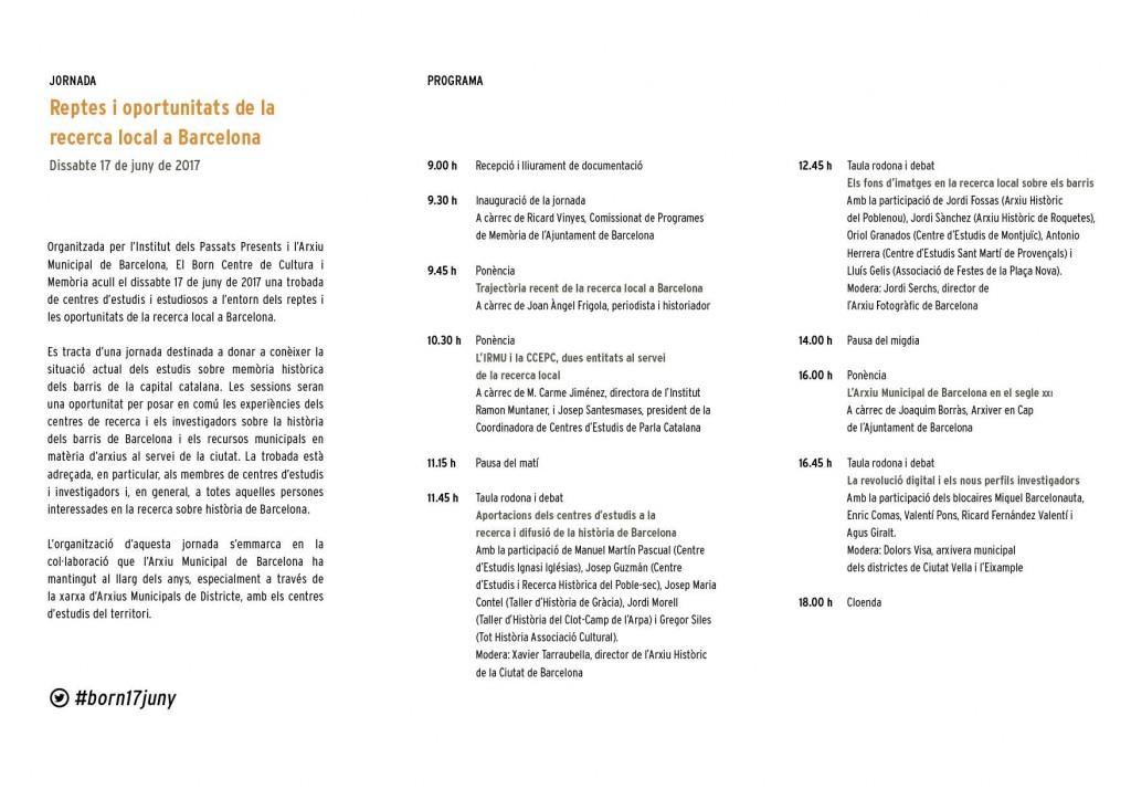 Jornada recerca local Barcelona -2