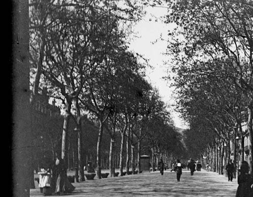 Passeig de Gràcia, 1902. Autor: MàriusAguirre Serrat-Calvó. Arxiu: Centre Excursionista de Catalunya