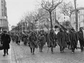 Soldats de l'exèrcit franquista entrant per la Diagonal de Barcelona, 26 de gener de 1939.