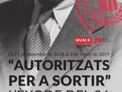 """Cartell de la mostra: """"Autoritzats per a sortir. L'èxode de 1936"""""""