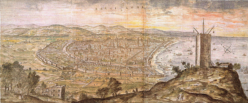 Barcelona 1563, de Antony van den Wyngaerde
