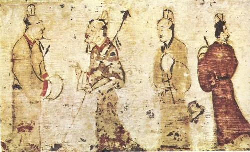 Pintura de la dinastía Han de l'Est (25–220 dC), Museo de Belles Arts, Boston
