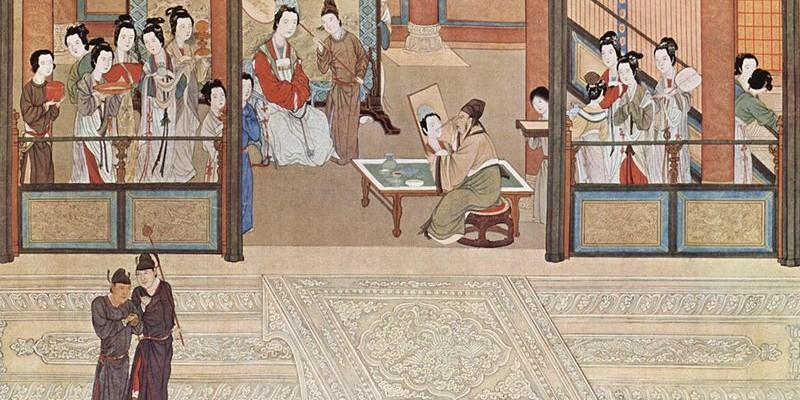 Un matí de primavera al palau Han, per Qiu Ying (1494-1552);