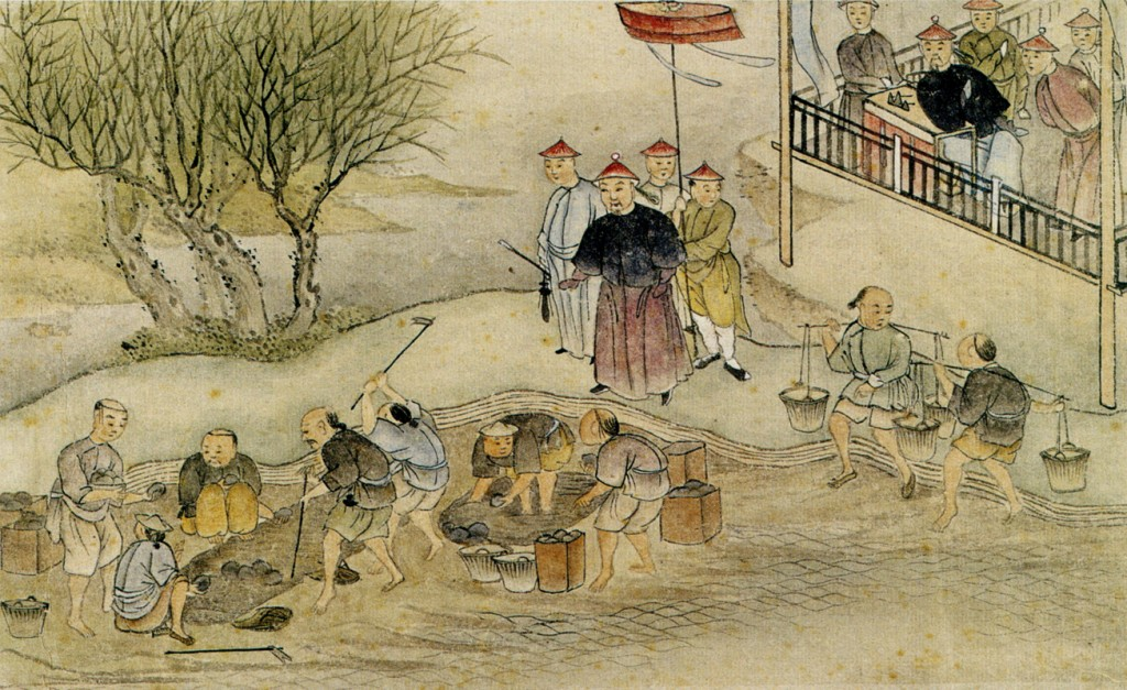 Commissioner Lin and the Destruction of the Opium in 1839