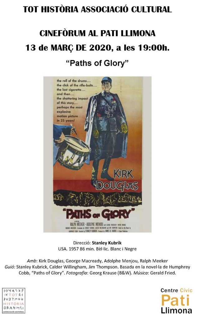 Cinefòrum 2020 Paths Of Glory