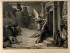 L'Ángel de la mort copejant una porta durant la pesta de Roma; gravat de Levasseur després de Jules-Elie Delaunay.