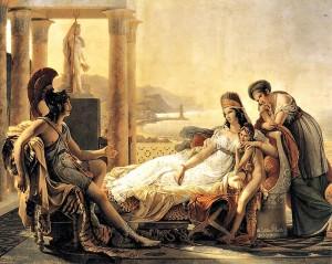 Enees informa Dido sobre la caiguda de Troia (Pierre-Narcisse Guérin, 1815)